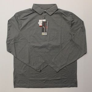 Grand Slam Motionflow Long Sleeve Polo Shirt Gray